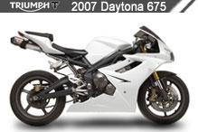 2007 Triumph Daytona 675 zubehör