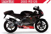 2003 Aprilia RS125 zubehör