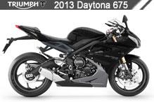 2013 Triumph Daytona 675 zubehör
